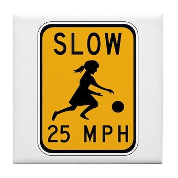 Slow 25 MPH Tile Coaster