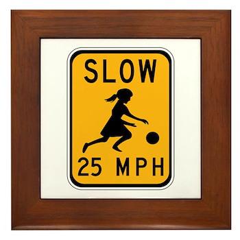 Slow 25 MPH Framed Tile
