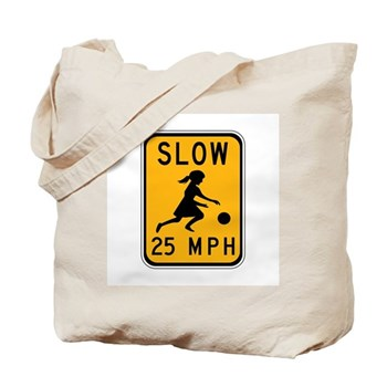 Slow 25 MPH Tote Bag