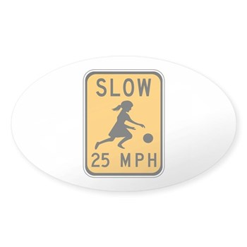 Slow 25 MPH Oval Sticker