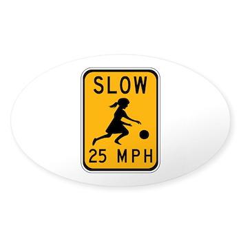 Slow 25 MPH Oval Sticker (10 pk)