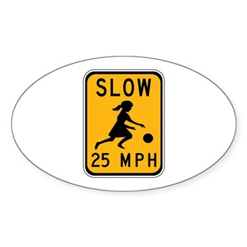 Slow 25 MPH Oval Sticker (10 pk)