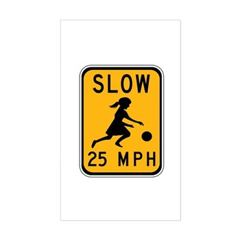 Slow 25 MPH Rectangle Sticker
