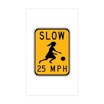Slow 25 MPH Rectangle Sticker 10 pk)