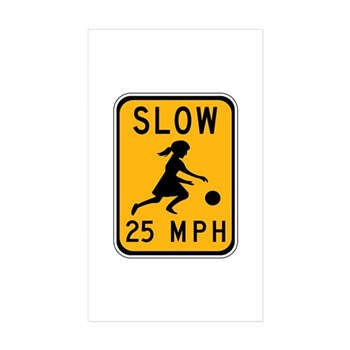 Slow 25 MPH Rectangle Sticker 50 pk)