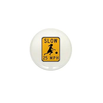 Slow 25 MPH Mini Button (10 pack)