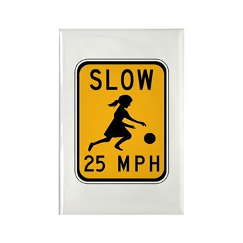Slow 25 MPH Rectangle Magnet (10 pack)