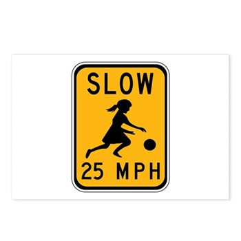 Slow 25 MPH Postcards (Package of 8)