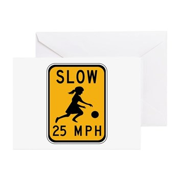 Slow 25 MPH Greeting Cards (Pk of 10)