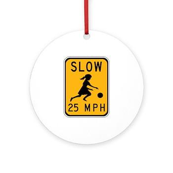 Slow 25 MPH Ornament (Round)