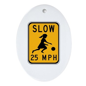 Slow 25 MPH Oval Ornament