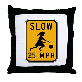 Slow 25 MPH Throw Pillow