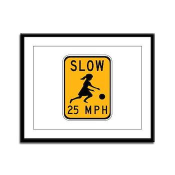 Slow 25 MPH Framed Panel Print
