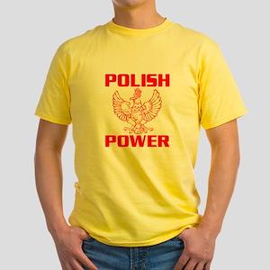 Polish Power Yellow T-Shirt