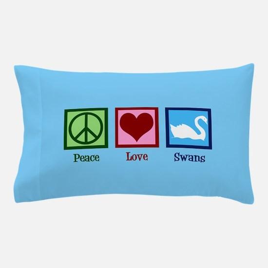 Peace Love Swans Pillow Case