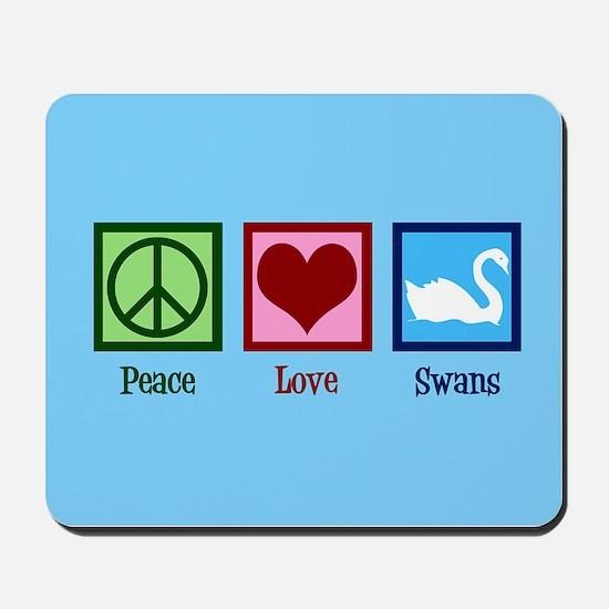 Peace Love Swans Mousepad