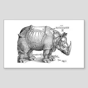 Rhino Rectangle Sticker