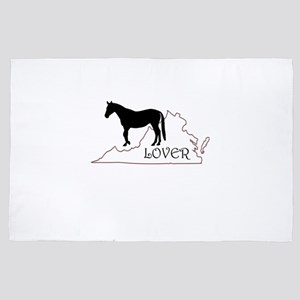 Virginia Horse Lover Gift 4' x 6' Rug