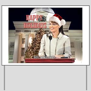 Happy Holidays Palin Yard Sign