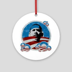 Obama Logos Ornament (Round)