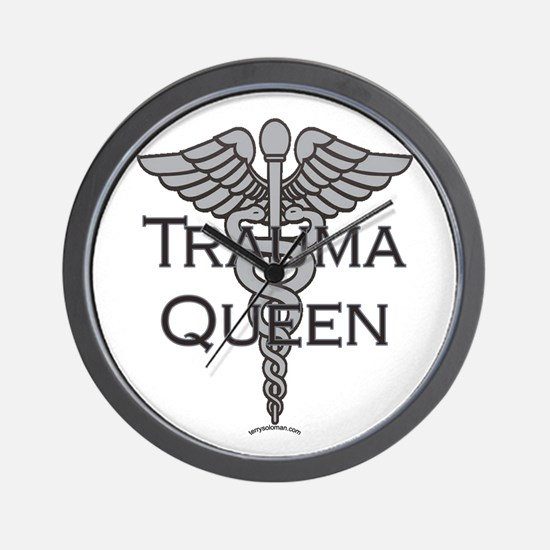Trauma Queen, ER Nurse Wall Clock