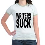 Writers Suck Jr. Ringer T-Shirt