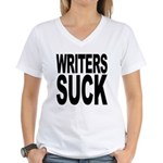 Writers Suck Women's V-Neck T-Shirt