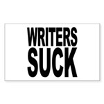 Writers Suck Rectangle Sticker