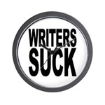 Writers Suck Wall Clock