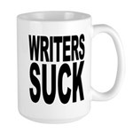 Writers Suck Large Mug