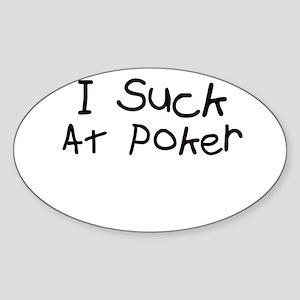 Poker Oval Sticker