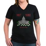 They Have a Plan Women's V-Neck Dark T-Shirt