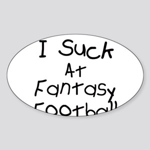 Fantasy Football Oval Sticker