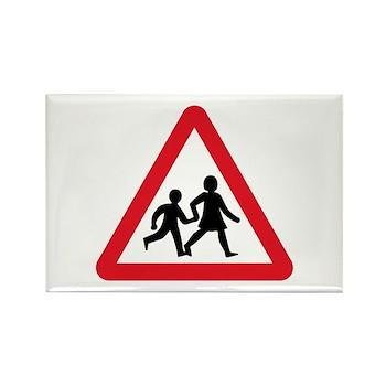 Children Crossing, UK Rectangle Magnet (10 pack)