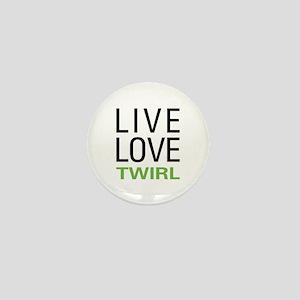 Live Love Twirl Mini Button