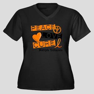 PEACE LOVE CURE MS Plus Size T-Shirt