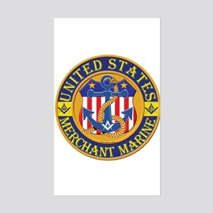 Merchant Marine Mason Rectangle Sticker