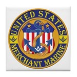 Merchant Marine Mason Tile Coaster