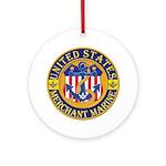 Merchant Marine Mason Ornament (Round)