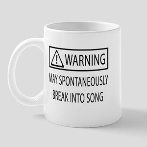 Spontaneous Singer BW Mug
