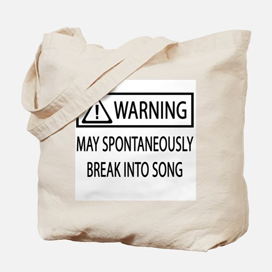 Spontaneous Singer BW Tote Bag