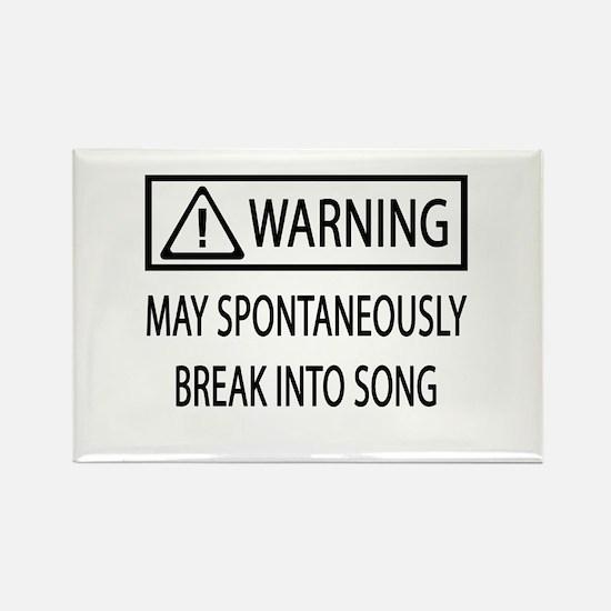 Spontaneous Singer BW Rectangle Magnet