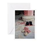 Tibetan Boots Greeting Cards (Pk of 20)