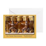 Wat Pho Figures Greeting Card