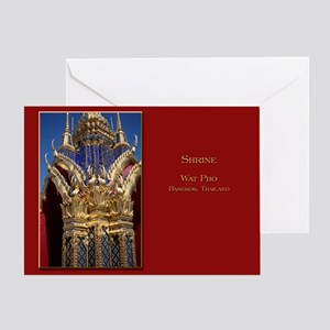 Azure Glass & Gold Greeting Card