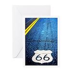 Blue 66 Shield Greeting Card