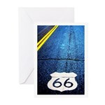 Blue 66 Shield Greeting Cards (Pk of 10)