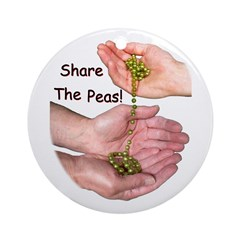 Share The Peas Ornament (Round)