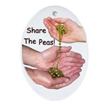Share The Peas Oval Ornament