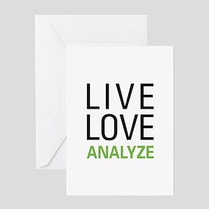 Live Love Analzye Greeting Card